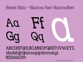 Street Slab - Narrow Rev