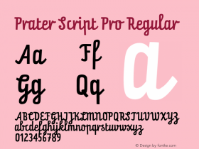 Prater Script Pro