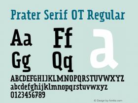 Prater Serif OT