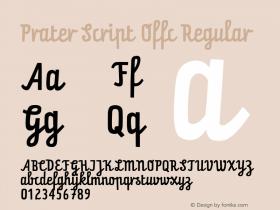 Prater Script Offc