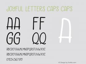Joyful Letters Caps