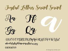 Joyful Letters Script