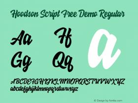 Hoodson Script Free Demo