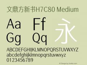 文鼎方新书H7C80