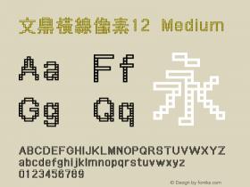 文鼎橫線像素12