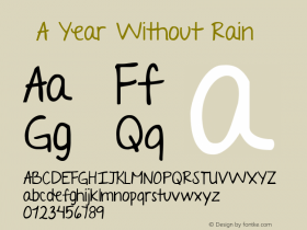 ☞A Year Without Rain
