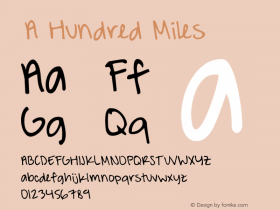 ☞A Hundred Miles
