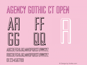 Agency Gothic CT