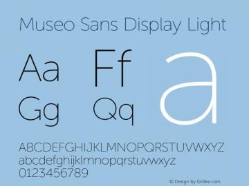 Museo Sans Display