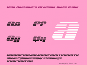 Nolo Contendre Gradient Italic