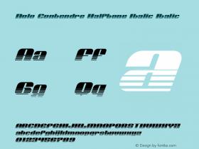 Nolo Contendre Halftone Italic
