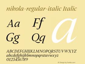 nikola-regular-italic
