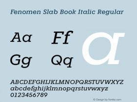 Fenomen Slab Book Italic