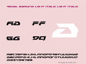 Royal Samurai Light Italic