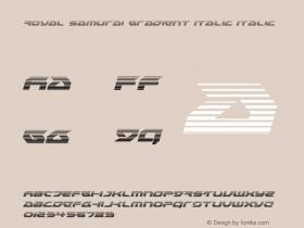 Royal Samurai Gradient Italic