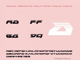 Royal Samurai Halftone Italic
