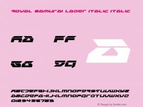 Royal Samurai Laser Italic