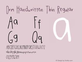 Drm Handwritten Thin