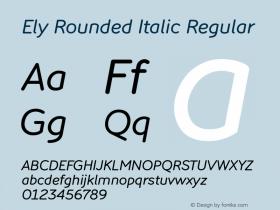 Ely Rounded Italic