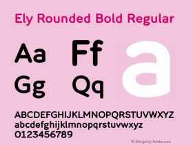Ely Rounded Bold