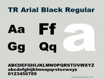 TR Arial Black