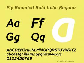 Ely Rounded Bold Italic