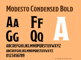 Modesto Condensed
