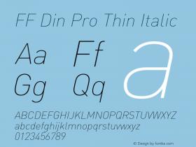 FF DIN Pro
