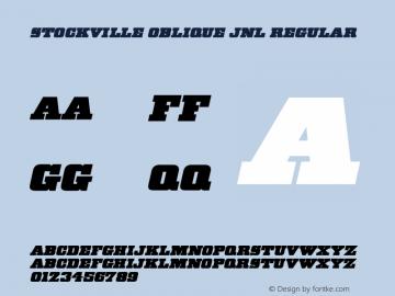 Stockville Oblique JNL