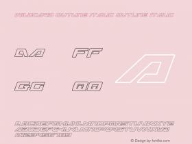 Wildcard Outline Italic