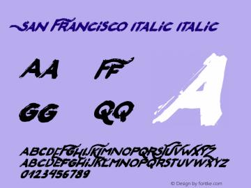 San Francisco Italic