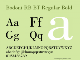 Bodoni RB BT