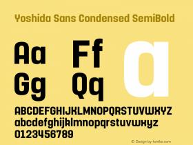 Yoshida Sans Condensed