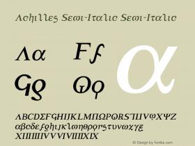 Achilles Semi-Italic