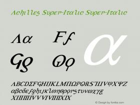 Achilles Super-Italic