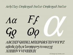 Achilles Condensed Italic