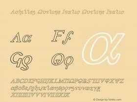 Achilles Outline Italic