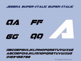 Jeebra Super-Italic