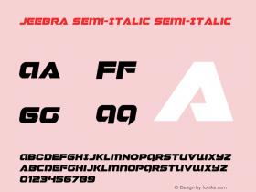 Jeebra Semi-Italic