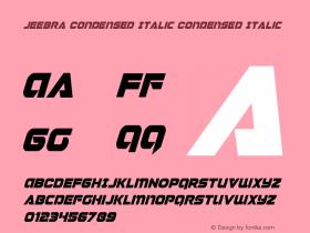 Jeebra Condensed Italic