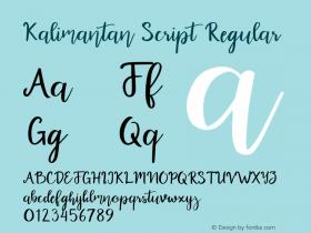Kalimantan Script