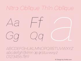 Nitro Oblique