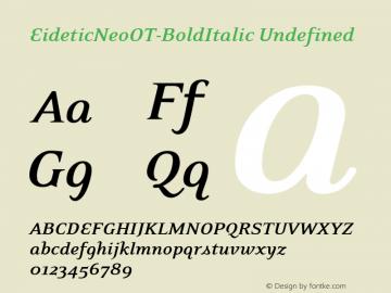 EideticNeoOT-BoldItalic