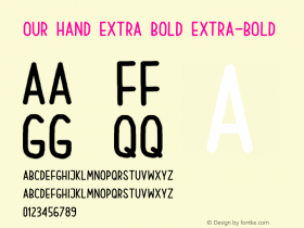 Our Hand Extra Bold
