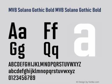 MVB Solano Gothic Bold