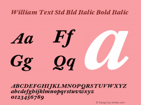 William Text Std Bld Italic