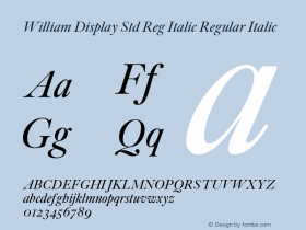 William Display Std Reg Italic