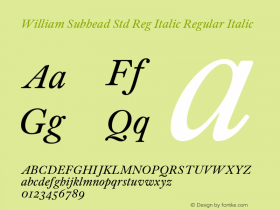 William Subhead Std Reg Italic