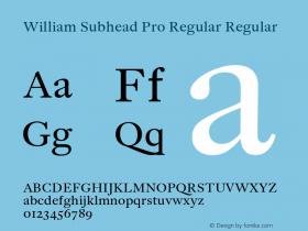 William Subhead Pro Regular
