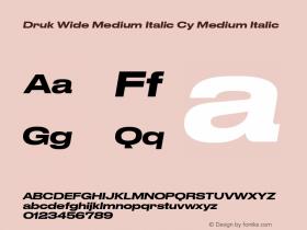 Druk Wide Medium Italic Cy